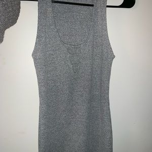 Forever 21 fitted grey mini dress